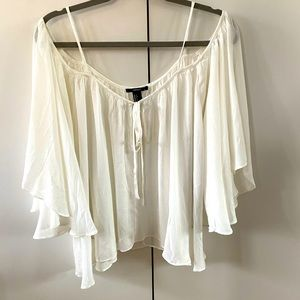 Forever 21 Off the Shoulder Blouse Top Cre…